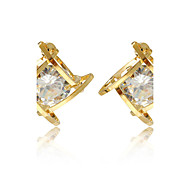 Women's Stud Earrings AAA Cubic Zirconia Fashion Personalized Cubic Zirconia Alloy Geometric Jewelry For Daily Casual