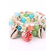 Women's Strand Bracelet Wrap Bracelet Cute Style Fashion Crystal Alloy Irregular Jewelry For New Year Date