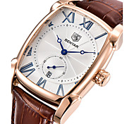 cheap -Men's Quartz Wrist Watch Japanese Calendar / date / day / Cool Genuine Leather Band Luxury / Casual / Fashion Brown