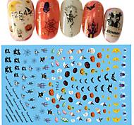 Недорогие -1 Стикер искусства ногтя Halloween 3-D Новый год Компоненты для самостоятельного изготовления Стикер макияж Косметические Ногтевой дизайн