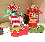 preiswerte -1 stücke niedliche weihnachten socke form weinflasche tasche 20 cm * 14 cm * 3 cm
