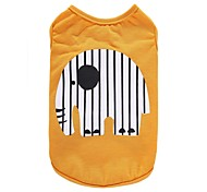 Dog Shirt / T-Shirt Vest Dog Clothes Party Birthday Holiday Casual/Daily Wedding Sports Fashion Animal Yellow Blue Costume For Pets