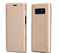 Hülle Für Samsung Galaxy Note 8 Flipbare Hülle Mattiert Handyhülle für das ganze Handy Volltonfarbe Weich Kunst-Leder für Note 8