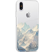 For iPhone X iPhone 8 iPhone 8 Plus Case Cover Ultra-thin Transparent Pattern Back Cover Case Scenery Soft TPU for Apple iPhone X iPhone