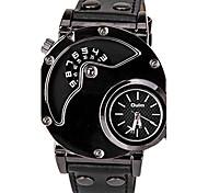cheap -Oulm Men's Quartz Sport Watch Casual Watch Leather Band Casual Unique Creative Watch Dress Watch Fashion Cool Black