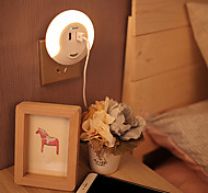 BRELONG Dual USB LED Night Light Down Sensor Bedside Lamp with Charger for Phone-Warm White AC100-240V 3.1A
