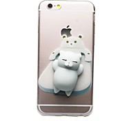 Недорогие -Кейс для Назначение Apple iPhone 7 Plus iPhone 7 Прозрачный С узором болотистый Своими руками Кейс на заднюю панель Кот 3D в мультяшном