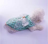 Недорогие -Собака Платья Одежда для собак На каждый день Принцесса Красный Зеленый Костюм Для домашних животных