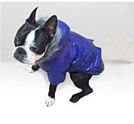 Собака Плащи Одежда для собак На каждый день Сплошной цвет Серый Лиловый Синий Розовый
