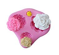 3d rosa flor silicone molde fundant bolo decorando bolinho de chocolate cozinhas ferramentas