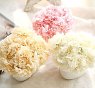 cheap -6 Branch Others Real touch Carnation Tabletop Flower Artificial Flowers