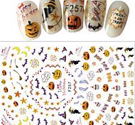1pcs Nail Art Sticker Happy Halloween Design lovely 3D Decals F257