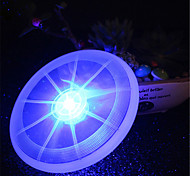 HKV® 1Pcs 2W White Red Green Pink Blue Yellow Warm white RGB LED Luminous Cup Pad Pet Frisbee Lamp