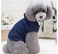 Собака Жилет Одежда для собак На каждый день Английский Серый Красный Синий