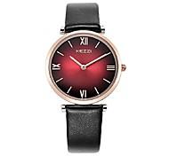 KEZZI Жен. Модные часы Японский кварц PU Группа Повседневная Черный Белый Красный Серый