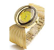 Damen Kinder Modeuhr Armband-Uhr Simulierter Diamant Uhr Chinesisch Quartz Imitation Diamant Legierung Band Glanz Böhmische Bettelarmband