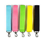 cheap -Dog Leash Portable Solid Nylon Black Yellow Green Blue Pink