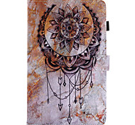For Case Cover Card Holder Wallet with Stand Flip Pattern Full Body Case Scenery Dream Catcher Hard PU Leather for Samsung Tab E 9.6 Tab