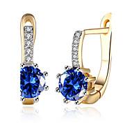 cheap -Women's Drop Earrings Hoop Earrings Cubic Zirconia AAA Cubic Zirconia Personalized Fashion Zircon Cubic Zirconia Circle Geometric Jewelry