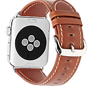 pour Apple Watch series 3 2 1 bracelet en cuir véritable bracelet 42mm 38mm