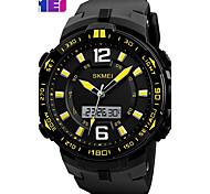 baratos -SKMEI Homens Relógio Esportivo Relogio digital Relógio de Moda Relógio de Pulso Digital PU Banda Preta