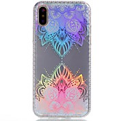 For iPhone X iPhone 8 Plus Case Cover Plating IMD Pattern Back Cover Case Lace Printing Flower Soft TPU for Apple iPhone X iPhone 8 Plus
