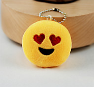cheap -New Arrival Cute Emoji Heart Eyes Face Key Chain Plush Toy Gift Bag Pendant