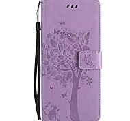 cheap -Case For Samsung Galaxy Note 8 Note 5 Card Holder Wallet with Stand Flip Embossed Full Body Cases Cat Butterfly Tree Hard PU Leather for