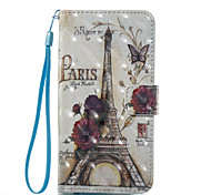 For Case Cover Card Holder Wallet with Stand Flip Pattern Full Body Case Eiffel Tower Hard PU Leather for Samsung Galaxy A3(2017)