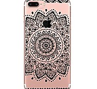 cheap -Case For Apple iPhone 7 Plus iPhone 7 Ultra-thin Transparent Pattern Back Cover Mandala Lace Printing Soft TPU for iPhone 7 Plus iPhone 7