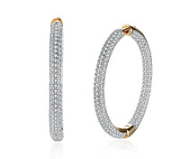 Women's Drop Earrings Hoop Earrings Cubic Zirconia AAA Cubic Zirconia Fashion Personalized Zircon Cubic Zirconia Circle Jewelry For Gift