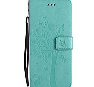 cheap -Case For Samsung Galaxy Note 8 Note 5 Card Holder Wallet with Stand Flip Pattern Full Body Cases Cat Tree Hard PU Leather for Note 8 Note