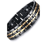 cheap -Men's Chain Bracelet Bangles - Natural Fashion Others Circle Black Bracelet For Gift Daily