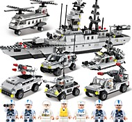 cheap -SHIBIAO Building Blocks 1090pcs Classic Warship Fighter Aircraft Police DIY Contemporary Classic & Timeless Chic & Modern High Quality