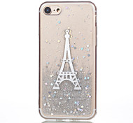 For iPhone 7 iPhone 7 Plus Case Cover Pattern Back Cover Case Eiffel Tower Soft Silicone for Apple iPhone 7 Plus iPhone 7 iPhone 6s Plus