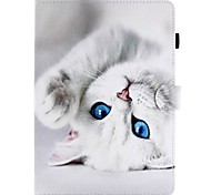 cheap -Case For Apple iPad 4/3/2 iPad Air 2 iPad Air Card Holder Wallet with Stand Flip Pattern Full Body Cases Cat Hard PU Leather for iPad