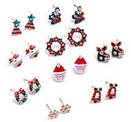 Women's Stud Earrings Hoop Earrings Bling Bling Adorable Rhinestone Alloy Jewelry For Christmas Club