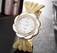 Damen Modeuhr Armbanduhr Einzigartige kreative Uhr Armbanduhren für den Alltag Quartz Legierung Band Bettelarmband Cool Bequem Kreativ