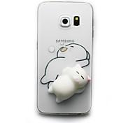 Кейс для Назначение SSamsung Galaxy S8 Plus S8 Прозрачный С узором Своими руками болотистый Задняя крышка Кот 3D в мультяшном стиле Мягкий