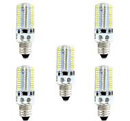 BRELONG Dimmable E11 E12 E14 E17 4W 3014 80SMD 360LM 3000-3500K/6000-6500K Warm White/White Light LED Corn Bulb AC110V/220V 5pcs