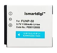 ismartdigi fnp50 3.7v 1150mah для аккумулятора fujifilm np-50 f200exr f505 f305 f85 finepix x10 x20