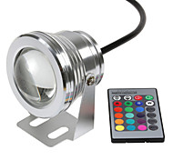 1PCS HKV® RGB 10W 12V LED Underwater Light 16 Colors 24Keys RGB Controller 1000LM Waterproof IP68 Fountain Pool Lamp Lighting