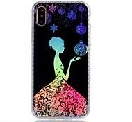 Назначение iPhone X iPhone 8 Чехлы панели Покрытие IMD С узором Задняя крышка Кейс для Соблазнительная девушка Кружева Печать Цветы Мягкий