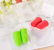 5 Pairs Travel Soft Ear Plugs Random Color Plastic Box Pack