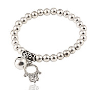 Women's Strand Bracelet Jewelry Fashion Elegant Alloy Round Hamsa Hand Jewelry For Birthday Gift