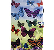For Case Cover Card Holder with Stand Flip Magnetic Pattern Full Body Case Butterfly Hard PU Leather for Samsung Galaxy Tab E 9.6 Tab E