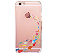 cheap -Case For Apple iPhone X iPhone 8 iPhone 8 Plus Ultra-thin Transparent Pattern Back Cover Cartoon Soft TPU for iPhone X iPhone 8 Plus