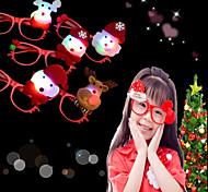 abordables -1 unids led intermitente gafas marco niños niños brillantes gafas eyewear xmas suministros de fiesta es al azar