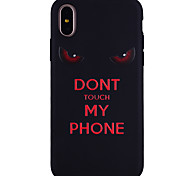 cheap -Case For Apple iPhone X iPhone 8 Pattern Back Cover Word / Phrase Soft Silicone for iPhone X iPhone 8 Plus iPhone 8 iPhone 7 Plus iPhone