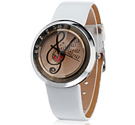 JUBAOLI Women's Fashion Watch Wrist watch Chinese Quartz Leather Band Charm Cool Casual Black White Brown Green